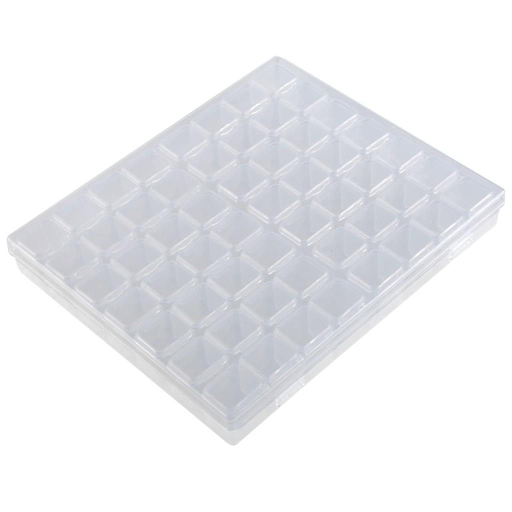 56 Маленькая Сетка Регулируемая прозрачная пластиковая коробка для хранения для небольших компонентов ящик для ювелирных инструментов орг...(Китай)
