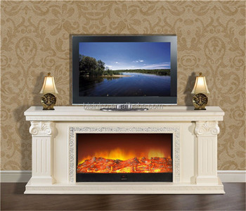 Italy White Tv Stand Heater Insert Fireplace Huge Frame Mantel Electric Stove E Warmer View Bisini Product Details