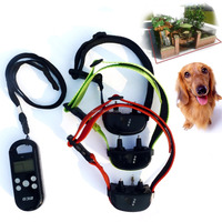 2015 christmas hottest Remote control pet training collars personlized three dogs dragged by one transmitter