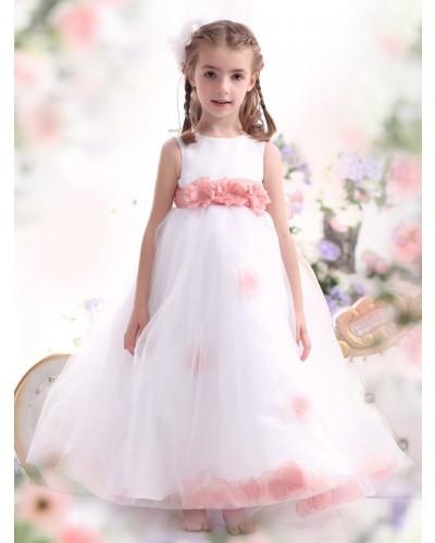 b8619b835b Get Quotations · 2015 New Arrival A-Line Scoop Tulle Long Flower Girl  Dresses flower girl dresses for