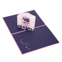Customized Laser Cut Wedding 3d Photo Frame Pop Up Cards Wedding Invitation