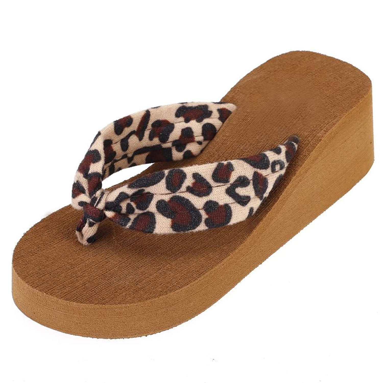 Maybest Ladies Summer Platform Flip Flops Thong Wedge Beach Wedge Heel Sandals