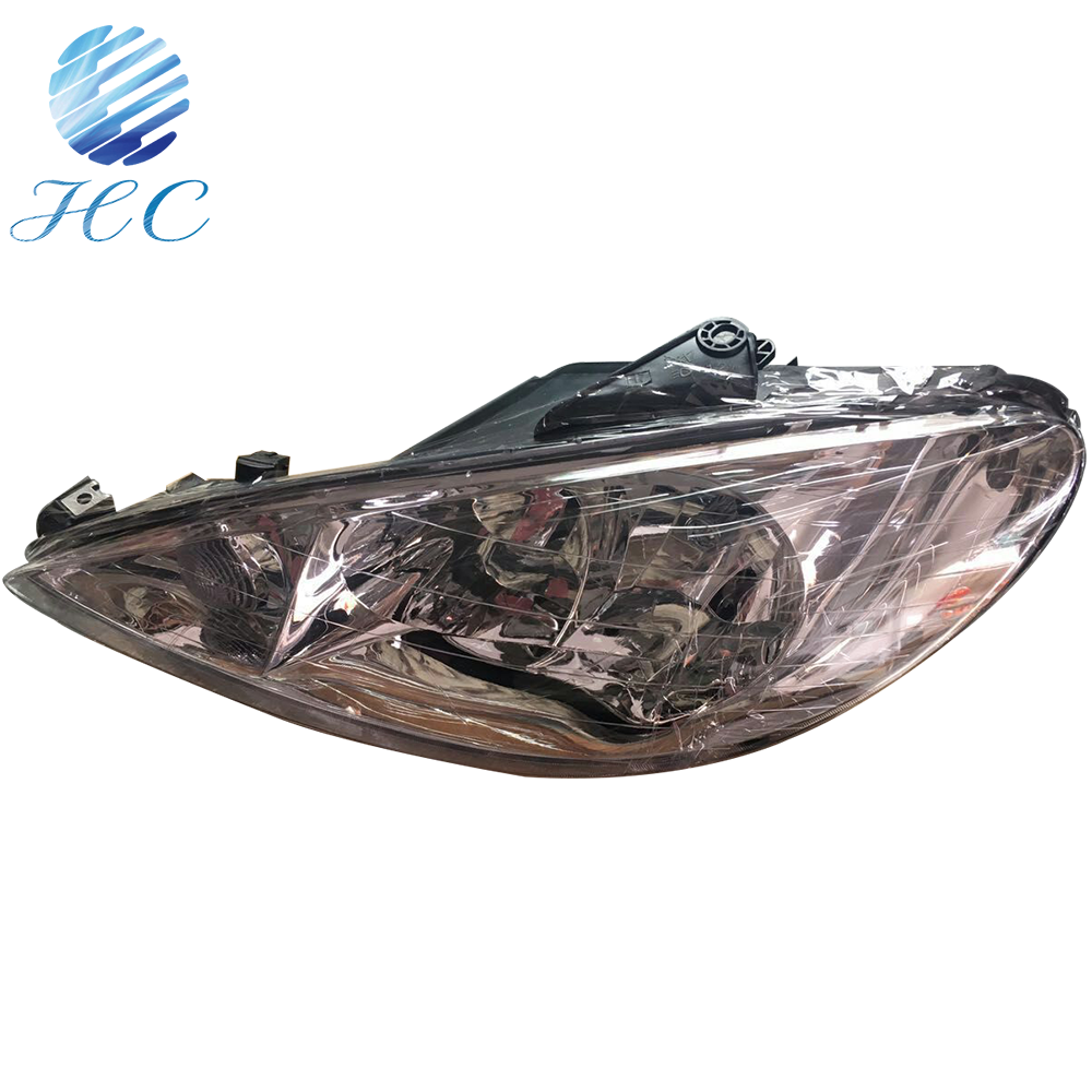 2006-2013 peugeot 206 cc car headlight with black bottom OEM