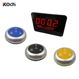 10 Waterproof  Guest Push Bell with One Display Wireless Restaurant Waiter Call Service