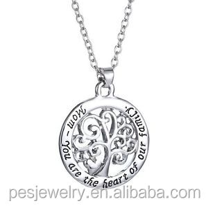 Precious Metal Without Stones Reasonable Sterling Silver Rhodium Plated Tree Of Life Pendant