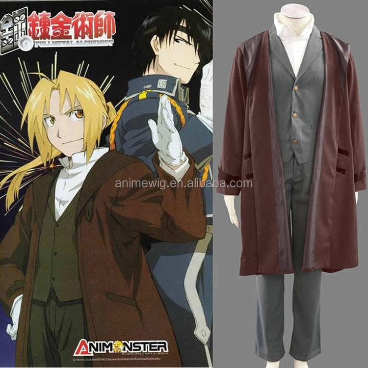 Japanese Anime FullMetal Alchemist Edward Elric Cosplay Costume SIZE M