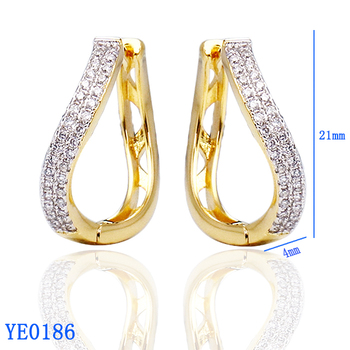 Las Jewelry Oversized Gold Plated Heart Shaped Traditional Cubic Zirconia Colored Hoop Earrings Online For