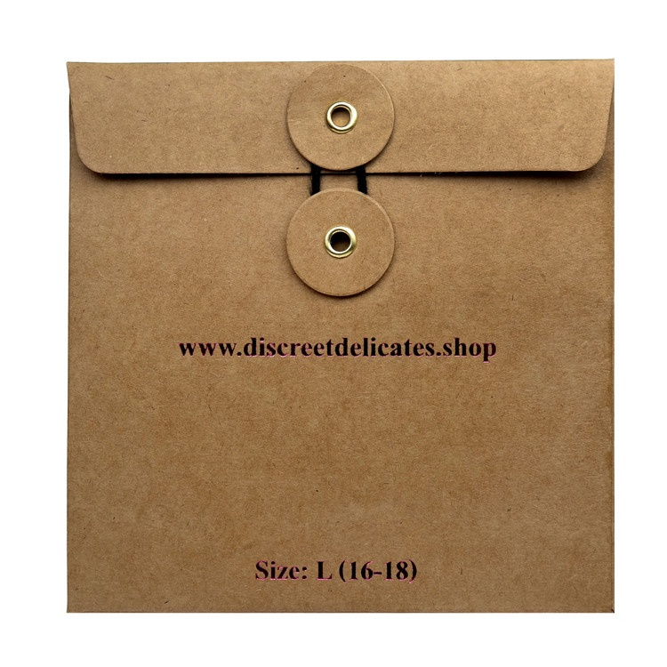 Rose Gold Foil Logo With Die Cut Window Paper Custom Envelope Packaging