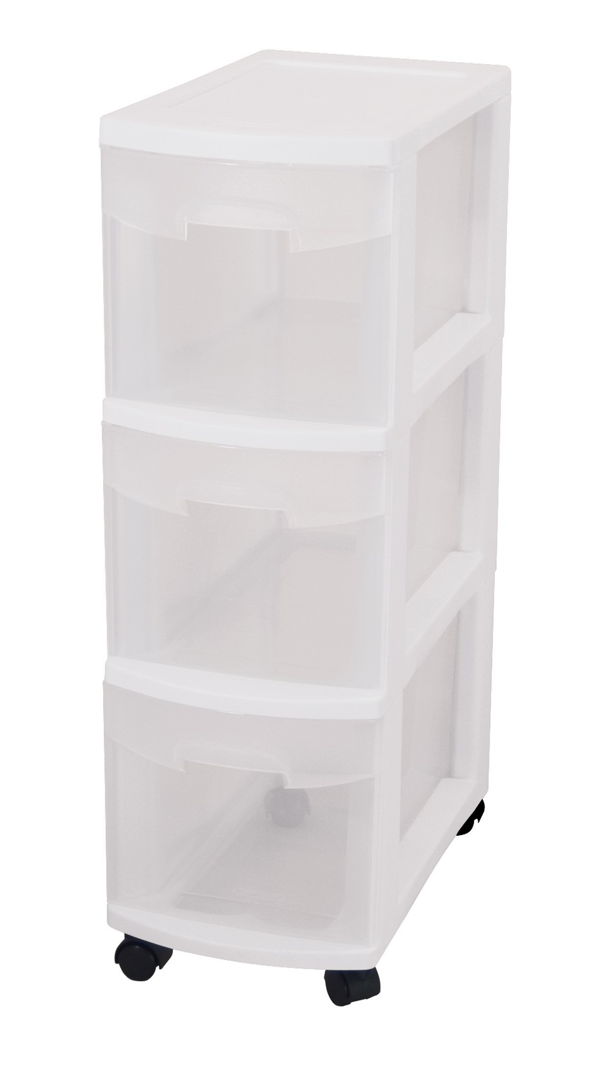 Merveilleux Sterilite 27308003 3 Drawer Narrow Cart With See Through Drawers And Black  Casters,