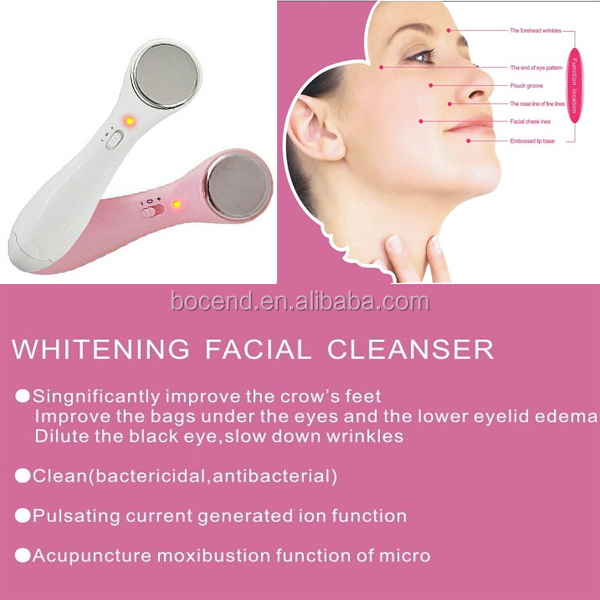 Ion import and export of household cleansing instrument beauty instrument skin deep pore cleansing facial massage