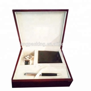 piano cherry lacquer finish luxury hot sale vip watch wallet pen box