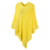 Stylish Wool Striped V Neck Pullover Winter Knitted Cashmere poncho towel Capes Shawl Poncho Sweater Coat with Tassels for Women