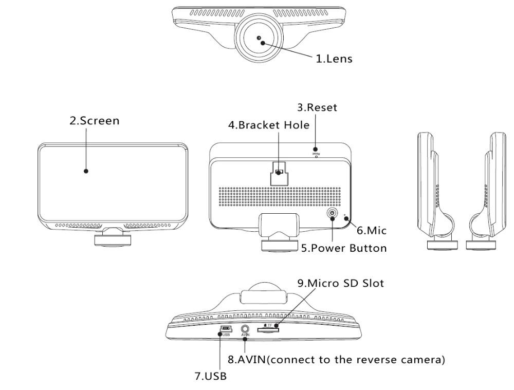 Firstscene 360 Degree Dual Car Camera Dash Cam, View 360 dash cam, on