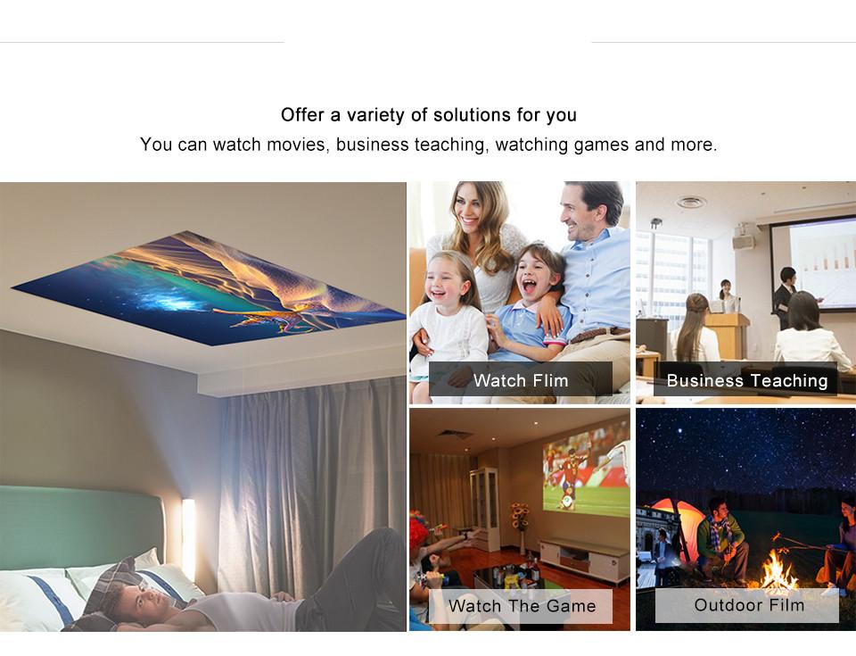 Penuh HD Android 7.1 WIFI Nirkabel Bluetooth 3D Holografik Proyektor Video dengan Baterai