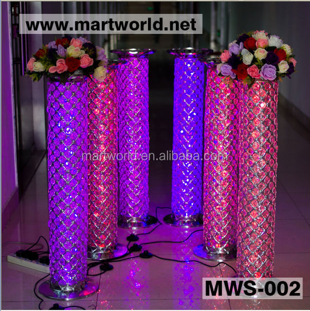 2017 1m Wedding Pillars Columns For Sale/crystal Pillar