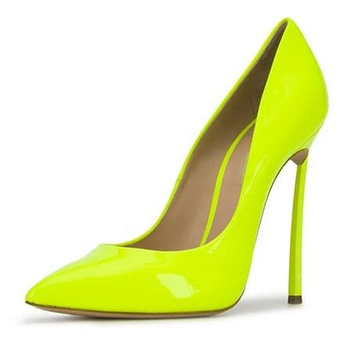 2019 Pointed Toe Neon High Heel Woman Pumps Shoes Dress Shoes For Wedding Party