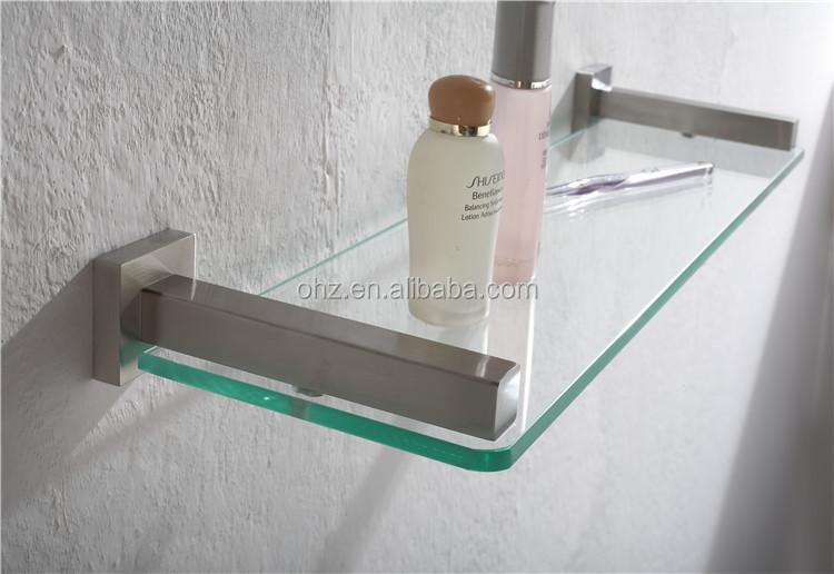 2605 porta papel higi nico y estante de vidrio de acero - Estante para ducha ...
