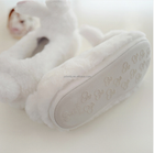 Plush Lamb Delicate rabbit flats shoes women home Slippers cute Plush indoor casual animal cotton shoes women