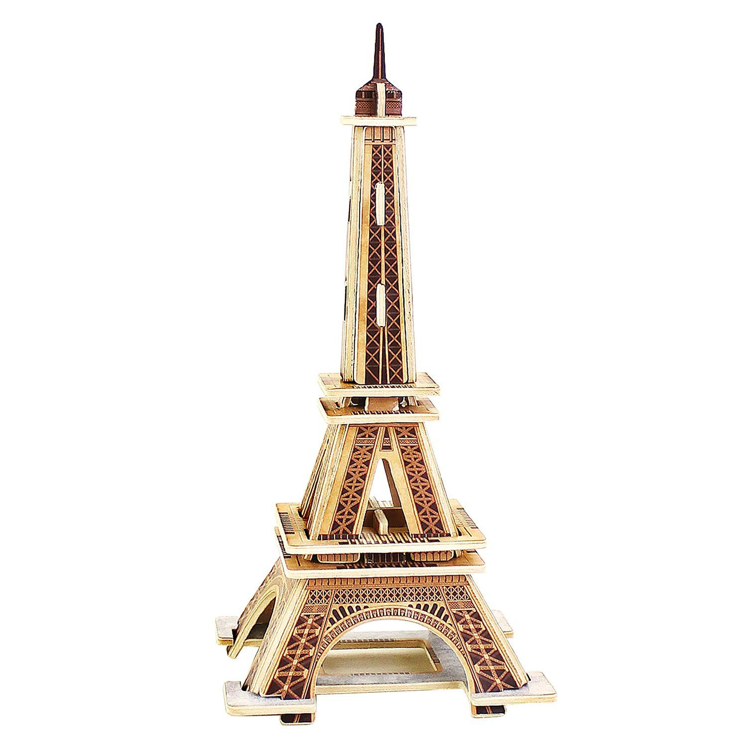 PONTE COLLECTION Eiffel Tower Model Kit 3d Puzzles Architecture Wooden Building Kit Wood Building Models Wooden Model Kits 22-pcs