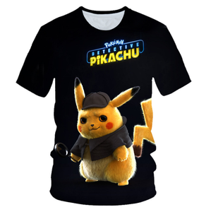 ebee3c842d Japanese Anime Pokemon T shirt Girls' Short Sleeve For Summer Pikachu  T-shirt