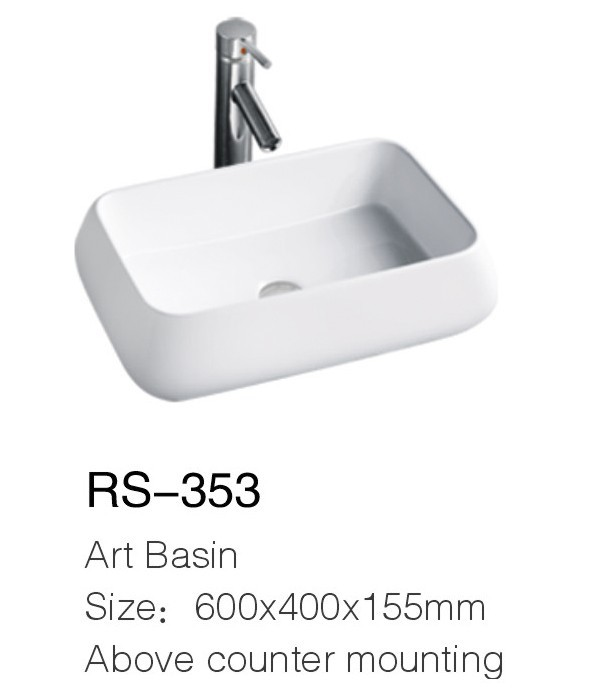 Special design deep sink and ceramic basin RS-353