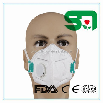 Vertical Folding Dust Mask With Valve