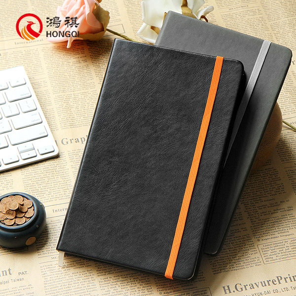 Z008 wholesale blank lockable diary with elastic band, cheanp diary page design,executive pocket personal pu diary to order