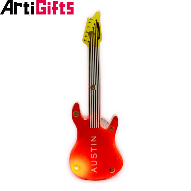 China factory  professional custom guitar mini full color led acrylic badge