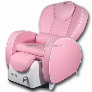 Hot Sale Top Luxuary Pink Spa Chair Pedicure Chair With Massager And Foot Bowl