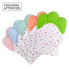 Infant Waterproof Newborn Custom Chew Silicone Baby Teething Glove, Teether Mitten For Babies