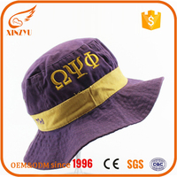 Leisure and recreation cotton embroidered fashion purple colorful bucket hat