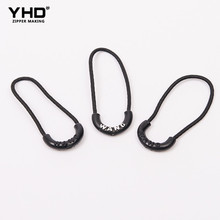 fashionable nylon colorful type double zipper slider elastic puller design