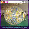 Commercial 0.8mm pvc transparent inflatable land body zorb ball with harness for kids and adults