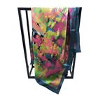 Custom design high quality women silk scarf digital printed hijab shawl