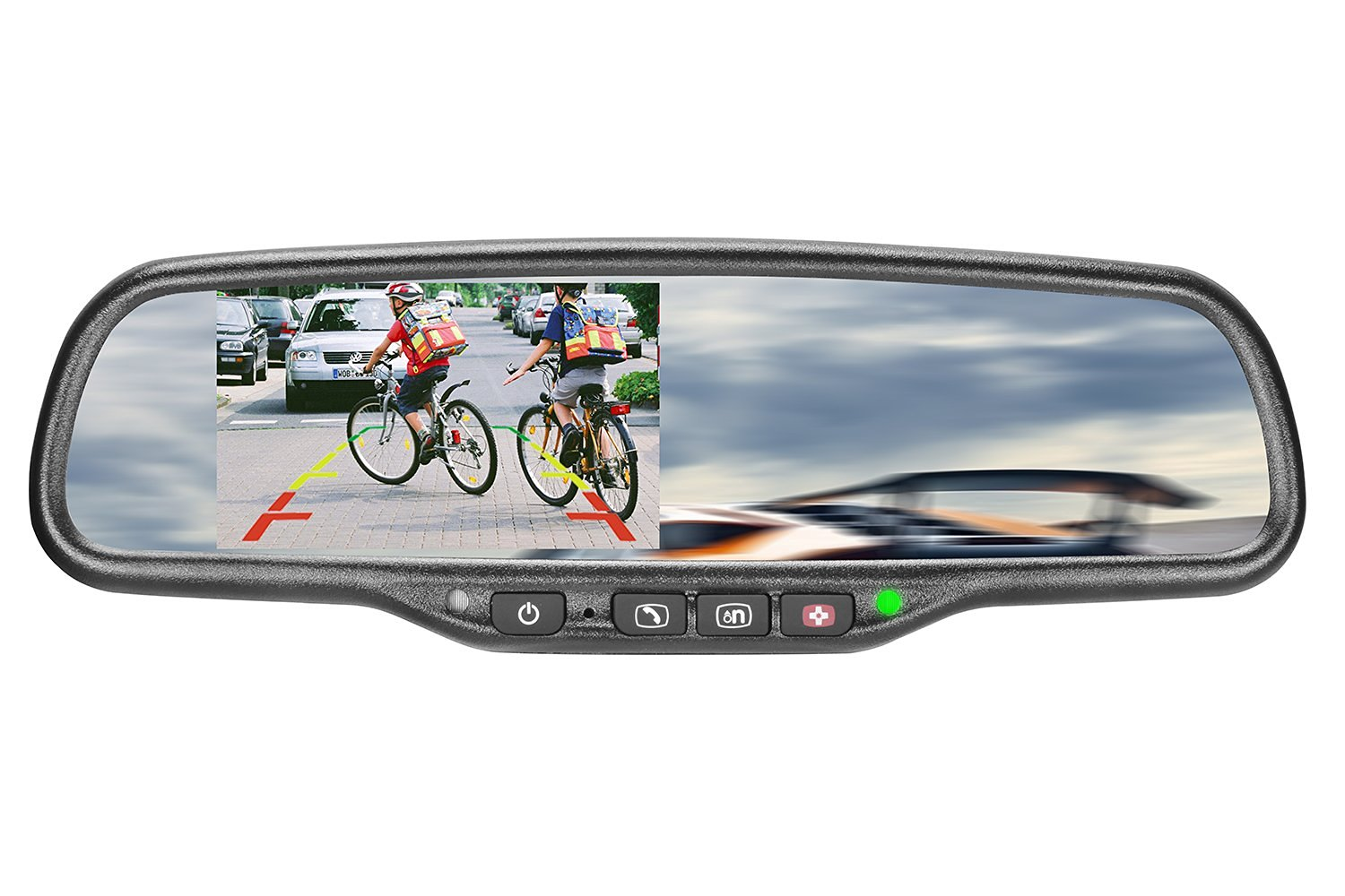 "iMirror GHK-043LA-ON Car Rearview Mirror with 4.3"" LCD Display Mirror Monitor Specially Designed for GM On-star"