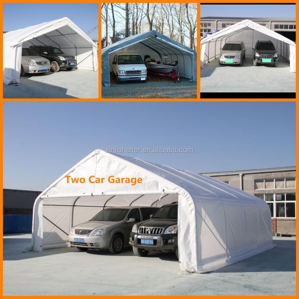 Canvas Car Garage : Peak waterproof two car garage shed buy