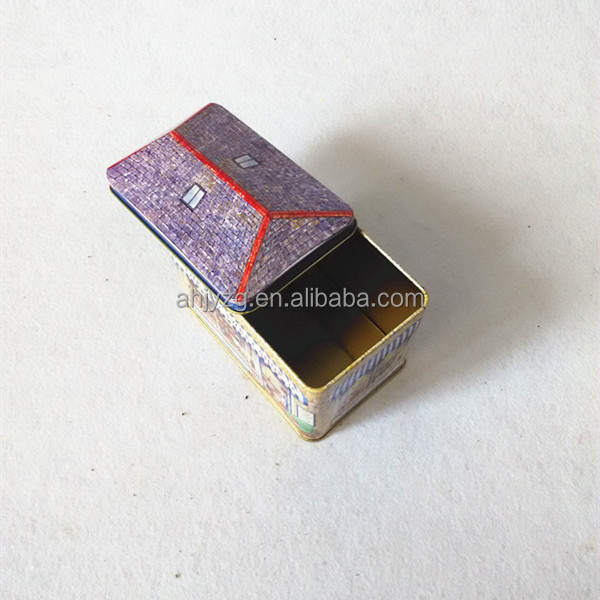 irregular house shaped metal packaging gift box
