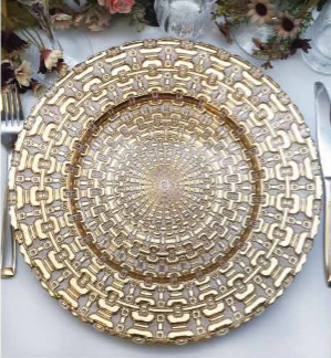 Elegant Dinnerware Charger <strong>Plates</strong> Choose Gold or Silver Glass Accent <strong>Plate</strong> for Holidays