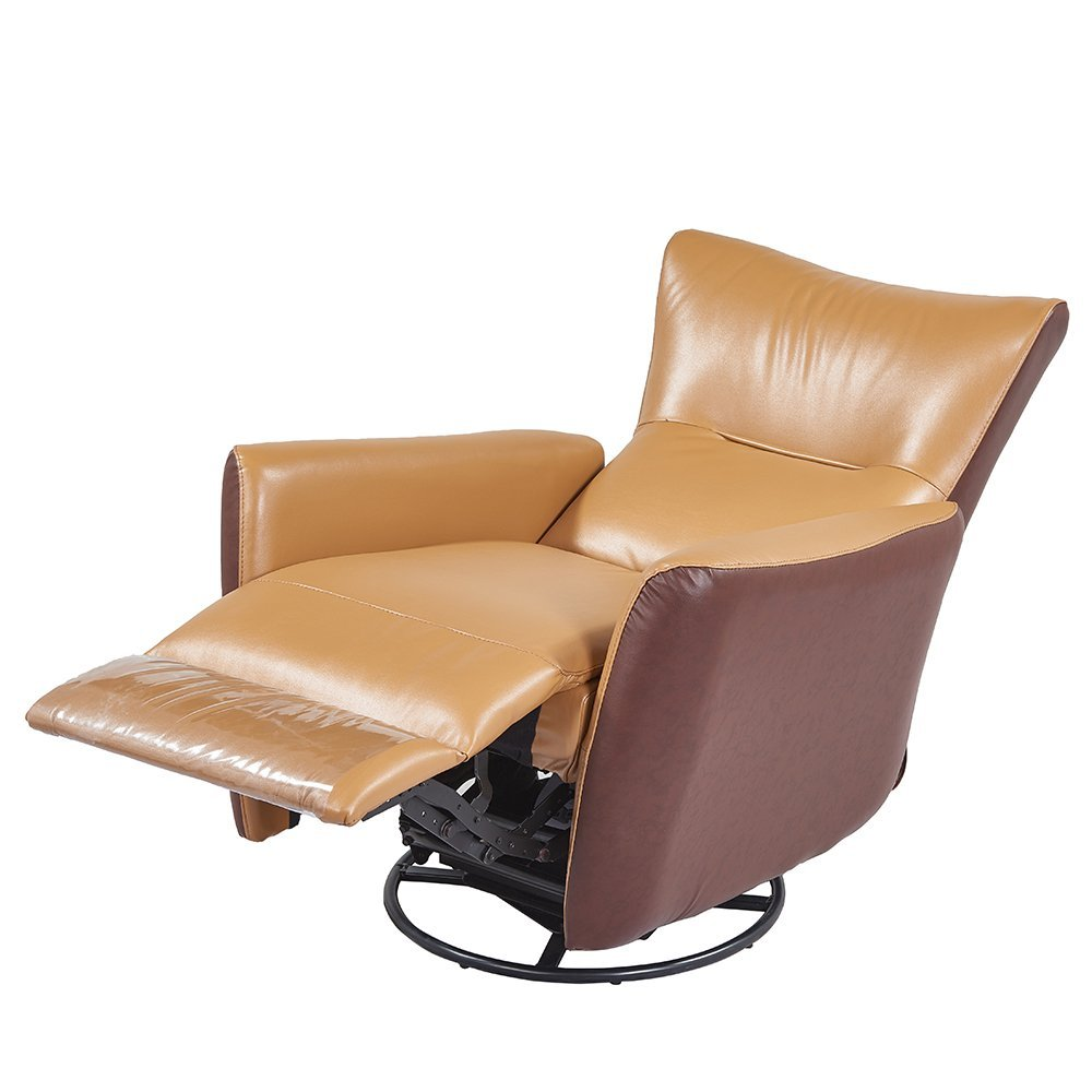 Get Quotations Remsoft Nursery Rocker Glider Chairs Swivel Recliner Rocking Chair Brown Leather Sofa Seat Home Theater