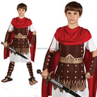 ROMAN Centurion Boys Fancy Dress Gladiator Grecian Warrior Kids Child Costume BP1930