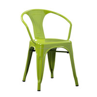 2016 Outdoor furniture general use stackable metal chair with arm