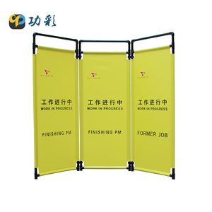 Industrial Construction Warning Barrier Gong Cai Supplier Plastic Folding Cloth Traffic Caution Danger Signs