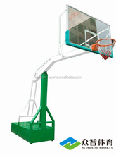 2016 luxury box-type movable buried leisure movable 3-player type basketball stands