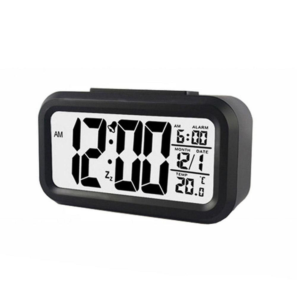 Digital LCD Snooze Electronic Alarm Clock with LED Backlight Light Control