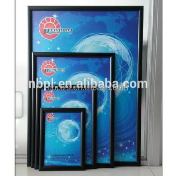 Pvc Uv Resistant Black Aluminum Snap Frame Wall Mounted Poster Frame ...