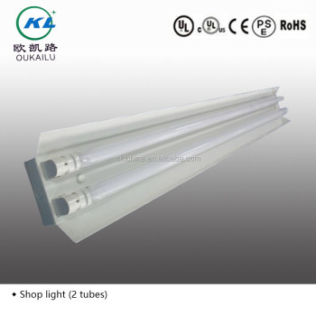 2ft/4ft/8ft Surface Mounted Commercial T8 Fluorescent Lighting Fixture With  Reflector From Factory