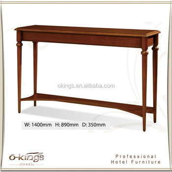 Simple Crossed Long Narrow Console Table Wood For Lighting Product On Alibaba