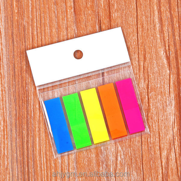 Square Shape PET Film Color Adhesive Index Marker/Sticky notes
