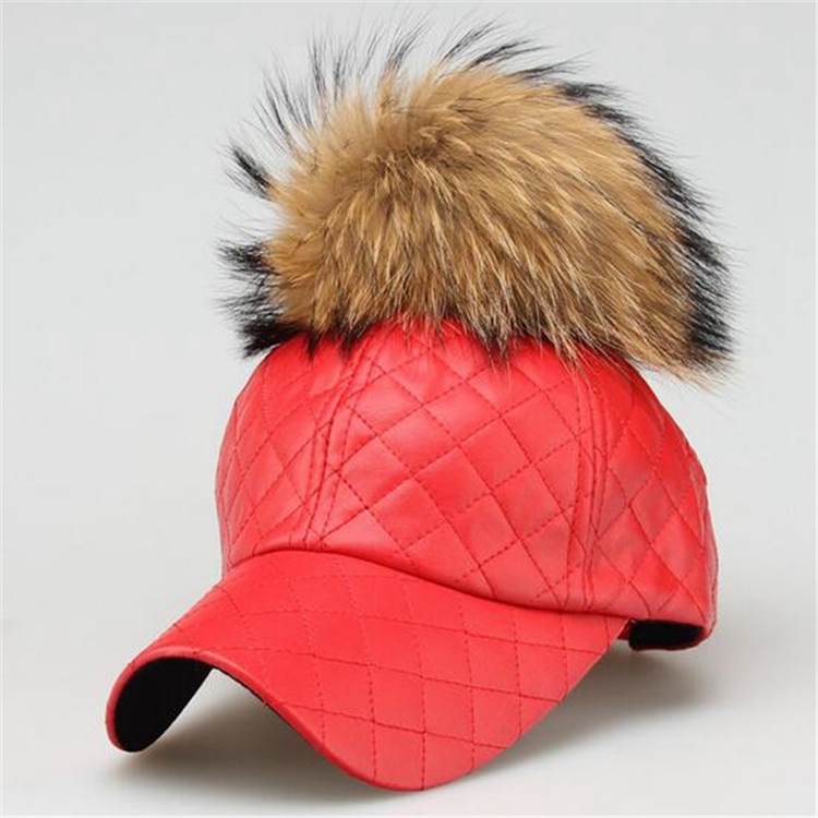 baseball cap hair attached winter block plush big