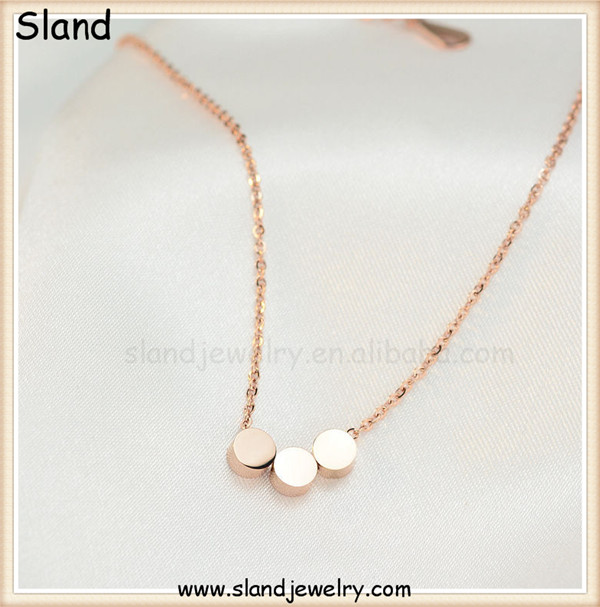 European and American fashion stainless steel Dainty jewelry tiny 3 Dots Necklace,Paypal and engraving is ok